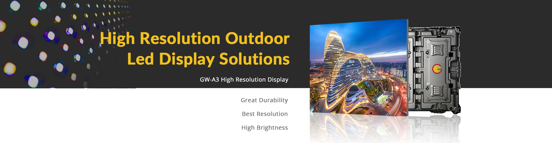 high resolution qutdoor led display solutions